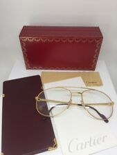 New Vintage Cartier Driver Aviator Eyeglasses Gold Plated T8100311 60mm France
