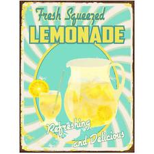 Fresh Squeezed Lemonade Metal Sign, Retro Diner Decor, Cafe Decor,Kitchen Decor