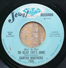 BLUES/NORTHERN SOUL 45: CARTER BROTHERS Booby Trap Baby/So Glad She's Mine JEWEL