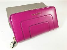 Bulgari Serpenti Forever Calf Leather Continental Wallet Berry/Violet
