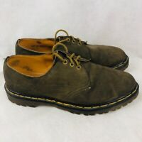 Dr. Martens Mens Oxfords Shoes Brown Leather Air Cushion Made England Size 10