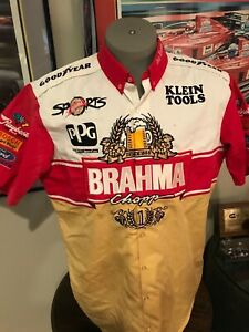 1996 TEAM GREEN BRAHMA SPORTS AUTHENTIC EMBROIDERED CREW SHIRT