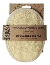 Hydrea London Exfoliating Loofah Body Pad Oval w/ Strap Natural Scrubber Shower