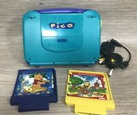 Sega Pico Game Console System w/ 2 Cartridges Richard Scarry and Pooh Corner