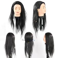 "25"" Long Hair Mannequin Hairdressing Practice Training Head Model"