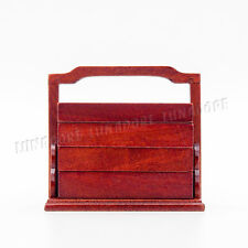 1:12 Dollhouse Wood Lunch Box Bento Ancient Hamper Kitchen Dining Miniature Gift