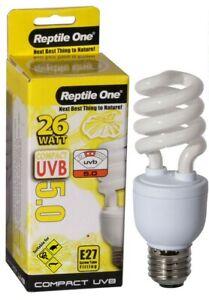Reptile One Compact UVB Bulb 26W UVB 5.0 E27 Fitting 46699