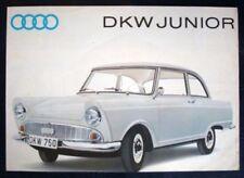 AUTO UNION - DKW JUNIOR SALES BROCHURE C 1962.