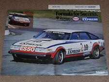 A2 size Poster of ROVER 3500 SD1 BTCC racer - Pete Lovett - 1981