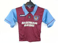 1995-1997 West Ham United Centenary Home Pony Football Shirt Jersey Small Boys