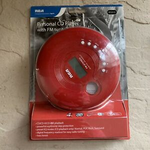 RCA Personal CD Player with FM tuner RP2910 - New Open Box - Joggable CD-R/RW