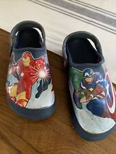 J3 Marvel Avengers Crocs Iron Man Captain America Black Widow Used