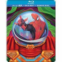 Spider-man: Far Far Home (STEELBOOK)(3D + Blu-ray) (Region Free) (3 Disc) (New)