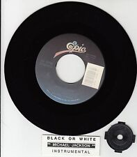 "MICHAEL JACKSON Black Or White 7"" 45 rpm record + juke box title strip BRAND NEW"