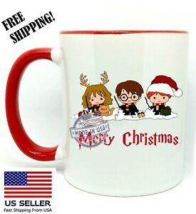Merry Christmas, Harry Potter, Christmas Gift, Red Mug 11 oz, Coffee/Tea