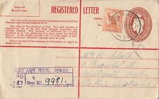 Stamp Australia 1/2 BCOF uprate 5&1/2d cover Aust Army P.O 241 sent registered