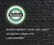 Heineken Beer LED ILLUMINATED SIGN, WALL MOUNTED LIGHT BOX for Garage, Man Cave