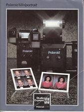 Polaroid Miniportrait MODE D'EMPLOI instructions dans 9 langues Nº b.109
