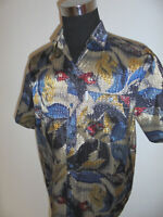true vintage ST. ANGELO 90`s Hemd crazy pattern shirt glitzer hawaii surf XXL