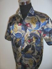 true vintage ST. ANGELO 90`s Hemd crazy pattern shirt glitzer hawaii surf XXL