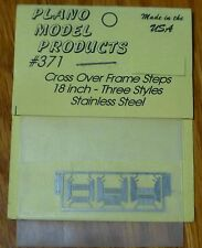 Plano Model Products HO #371 Crossover Steps -- 18' Frame Steps  (Metal parts)