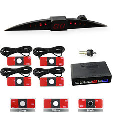 13mm Flat Car Reversing Parking Sensor LED Display Sound Alarm Auto Radar Kit