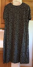 New Talbots size 20 rayon long shift dress short sleeved floral pattern NWOT