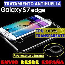 Funda TPU de gel silicona transparente para Samsung Galaxy S7 Edge carcasa