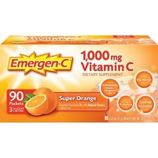 Emergen-C Vitamin D Drink Mix, 1000mg, Super Orange, 90 ct Emergen-C
