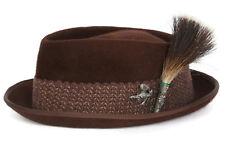 Vintage Lee Water Bloc, Brown Fedora Hat, 50s Swing Era