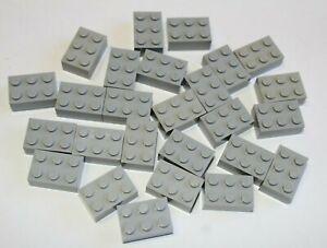 Lego Grey Lot Of 26 - 3x2 Blocks - 40 grams