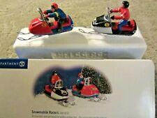 Dept 56 Snowmobile Racers set of 2 - Snow Village - #55136 (a0621E)