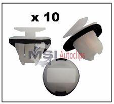 10 x EXTERIOR PLASTIC FENDER WHEEL ARCH MOULDING TRIM CLIPS fits NISSAN X-TRAIL