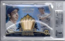 JOE DiMAGGIO 2014 Tribute BAT Relic Sp/99 BGS 9 MINT w2 9.5s & 10 NY Yankees HOF
