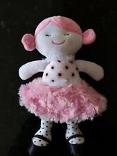 Baby Gear Plush Toy Doll Pink Minky Skirt. Preowned