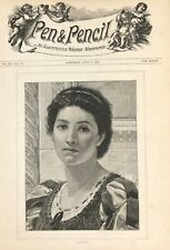 CATARINA Pen & Pencil Magazine Illustrated Weekly c1889  original cover page
