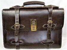 Vtg. Hipster SteampunkStyle Leather Brief Case Laptop Messenger Bag Portfolio