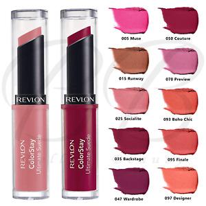 REVLON ColorStay Ultimate Suede Creamy Lipstick Shea Aloe Vitamin E *ALL SHADES*