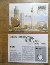 Numisbrief Deutschland 5 DM Münze mit Berlin Marke Nr.774 Münz Briefe a.aller W