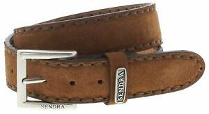 Sendra Boots 8563 Camello Ledergürtel Fashiongürtel Wildledergürtel Braun