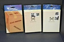 Lot of 3 - Just Moved New Address Announcement Cards - Fast Shipping