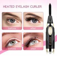 Portable Electric Heated Eyelash Curler Pen Long Lasting Eye lashes Makeup Gift