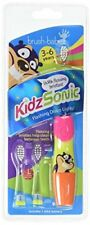 Brush Baby Pink Kidz Sonic Electric Toothbrush-3 x Small Testine vibrante Con...