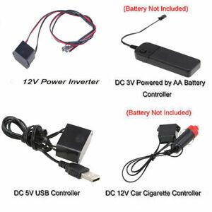 3V/5V/12V USB Controller Fit Led EL Wire/Tape Flexible Neon Decor Strip Lamp Car