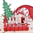 3D Pop Up Holiday Greeting Cards Snowman Jesus Reindeer Christmas Thanksgiving.S