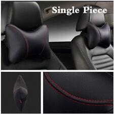 Single Piece Car Inner Accessory Black PU Leather +Red Suture Car Neck Headrest