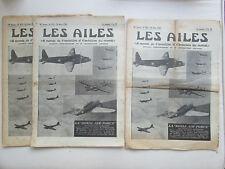 AILES 1938 875 FOKKER G1 RAF PAUL AUBERT CIGALE TOBOGGAN CATAPULTAGE VOL A VOILE