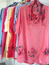 Women's Floral Cotton Hip Length Tunic, Kaftan Tops & Shirts