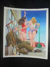 YO CONFIESO # 68, SEXY PIN UP GIRL ORIGINAL MEXICAN COVER ART