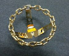 GOLD  CHAIN BICYCLE STEERING WHEEL LOWRIDER